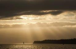 Saliboat Sonnenaufgang Lizenzfreie Stockfotos