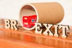 Salida de Gran Bretaña de la unión europea, extracto de la palabra de Brexit en letras del vintage Foto de archivo libre de regalías
