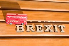 Salida de Gran Bretaña de la unión europea, extracto de la palabra de Brexit en letras del vintage Imágenes de archivo libres de regalías
