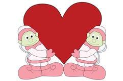 Salida de hadas de la tarjeta del día de San Valentín Imagen de archivo