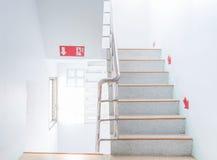 Salida de incendios de la escalera Fotos de archivo
