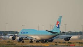 Salida de Korean Air Boeing 747 metrajes