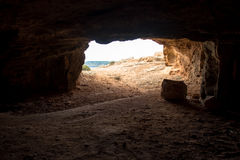 Salida de la cueva del Cyclop Fotografía de archivo libre de regalías