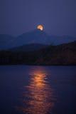 Salida de la luna Fotos de archivo libres de regalías