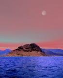 Salida de la luna Oahu Hawaii fotos de archivo