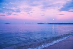 Salida de la luna sobre el Mar Negro Fotografía de archivo libre de regalías