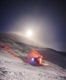 Salida de la luna sobre Goverla Fotografía de archivo libre de regalías