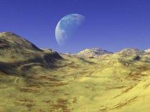 Salida de la luna x4 de las alturas de Flox - de Freya Foto de archivo libre de regalías