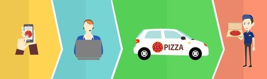 Salida de la pizza Fotos de archivo libres de regalías