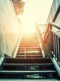 SALIDA de las escaleras Imagen de archivo