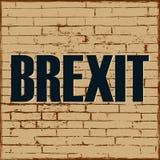 Salida de Reino Unido del proceso político de Brexit del cartel del vector de Europa stock de ilustración