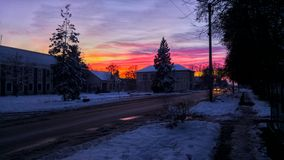 Salida del cielo Fotografía de archivo libre de regalías