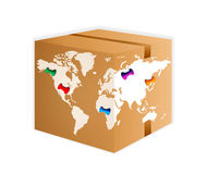 Salida del envío del mundo Fotos de archivo libres de regalías