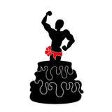 Salida del hombre de la torta de una torta enorme Imagen de archivo libre de regalías