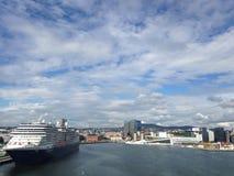 Salida del puerto de Oslo Imagen de archivo libre de regalías