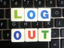 Salida del sistema de la palabra en fondo del teclado Imágenes de archivo libres de regalías