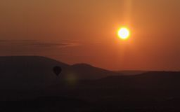 Salida del sol 1 de Luberon Fotografía de archivo