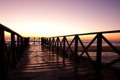 Salida del sol 1 del mar Fotos de archivo libres de regalías