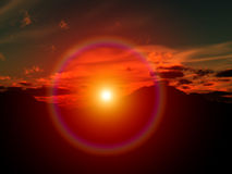 Salida del sol 19 stock de ilustración