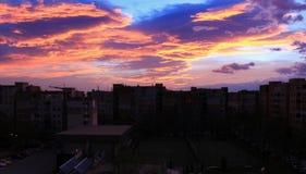 Salida del sol 22 11 2015 foto de archivo libre de regalías