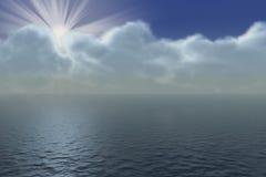 Salida del sol ilustración del vector