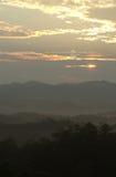 Salida del sol 8 de Tennessee Fotos de archivo libres de regalías
