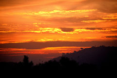 Salida del sol Imagen de archivo libre de regalías