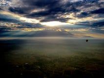 Salida del sol aérea Fotografía de archivo