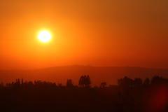 Salida del sol africana Imagenes de archivo