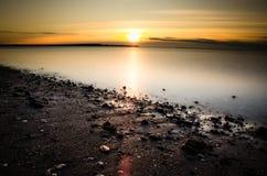 Salida del sol aguda Foto de archivo libre de regalías