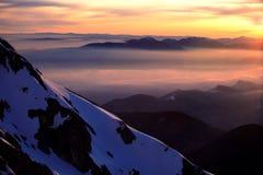 Salida del sol alpestre Fotos de archivo