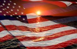 Salida del sol América Imagen de archivo