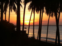 Salida del sol anaranjada Foto de archivo libre de regalías