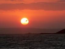 Salida del sol anaranjada Imágenes de archivo libres de regalías