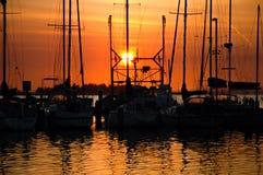 Salida del sol anaranjada Fotos de archivo libres de regalías
