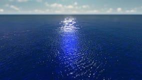 Salida del sol apacible sobre el lago ilustración del vector