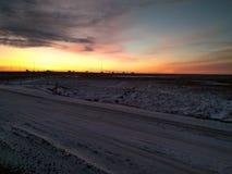 Salida del sol ardiente Imagen de archivo libre de regalías