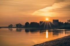 Salida del sol ardiente Imagen de archivo