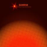 Salida del sol ardiente cibernética libre illustration