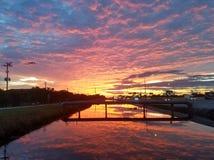 Salida del sol asombrosa Foto de archivo libre de regalías