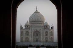 Salida del sol asombrosa en Taj Mahal Fotografía de archivo