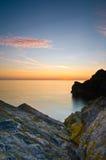 Salida del sol atlántica Imagen de archivo