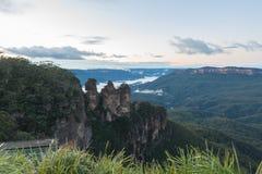 Salida del sol azul de la montaña, NSW, Australia Fotografía de archivo libre de regalías