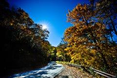 Salida del sol azul de la ruta verde de Ridge Fotos de archivo