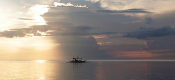 Salida del sol Boracay foto de archivo