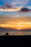 Salida del sol brillante en madrugada Fotografía de archivo libre de regalías