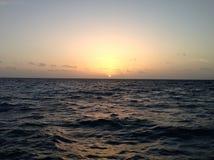 Salida del sol del calafate de Caye fotografía de archivo
