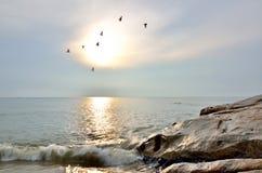 Salida del sol cambiante hermosa imagen de archivo libre de regalías