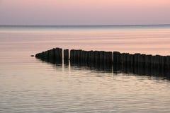 Salida del sol Campesinos de Chlopy - ciudad polaca Mar Báltico polaco en 2013 Imagen de archivo libre de regalías