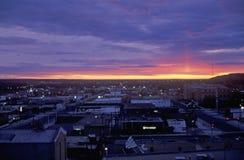 Salida del sol, Cedar Rapids, Dakota del Sur foto de archivo libre de regalías